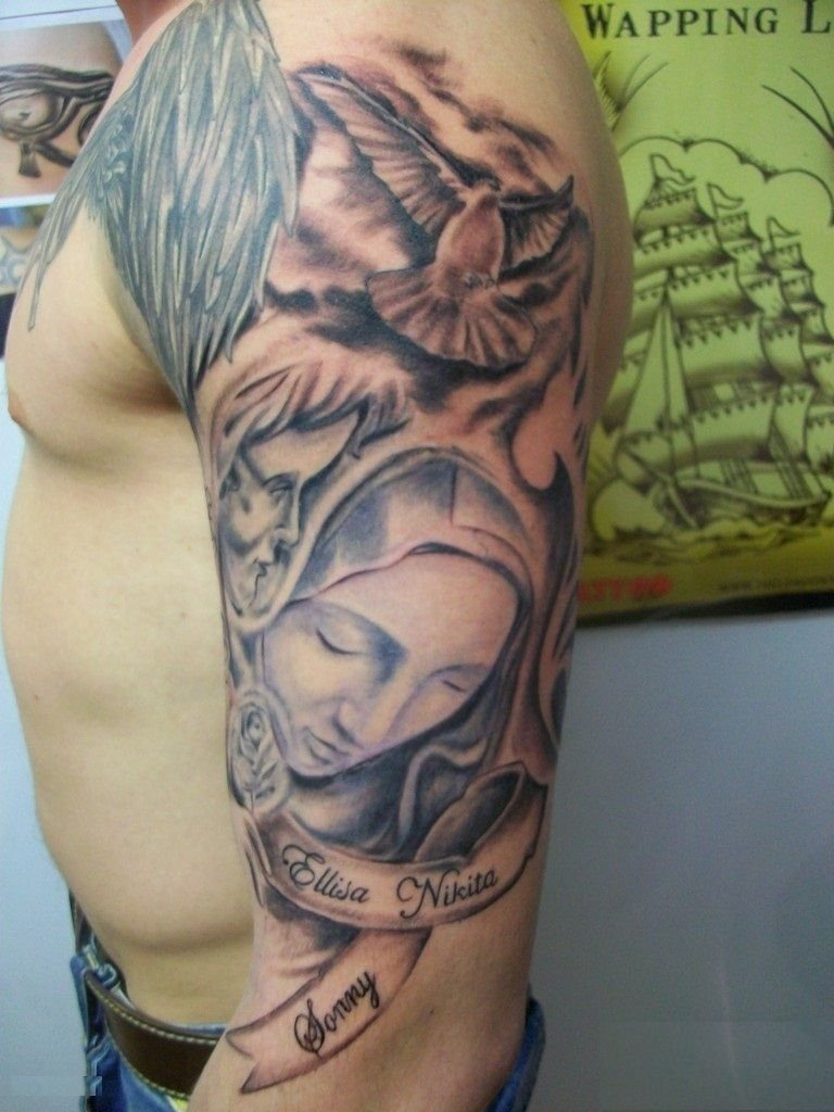 Religious Tattoos For Men Half Sleeve Half Sleeve Tattoo Site