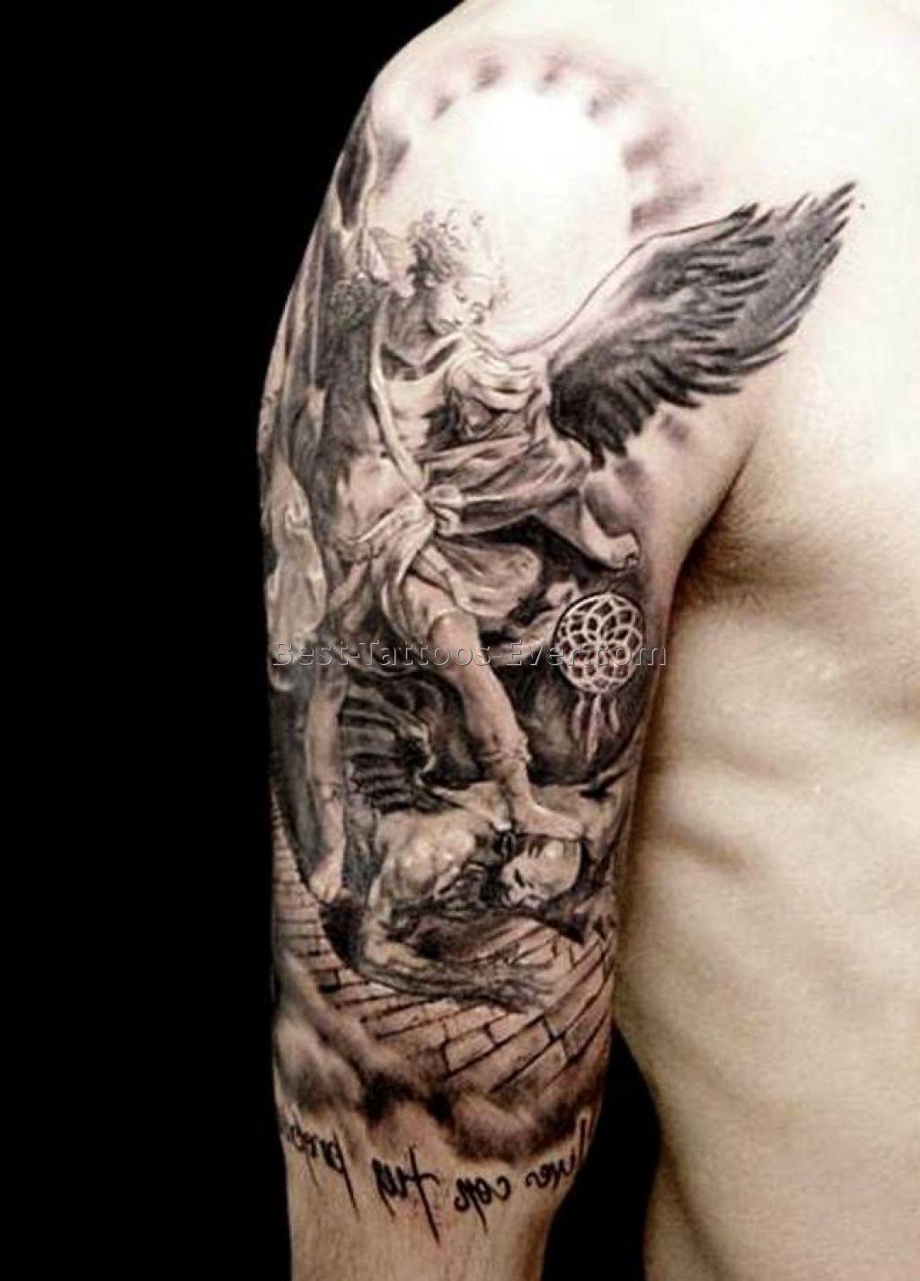 Angel Tattoo Designs For Men Sleeves Half Sleeve Tattoo Site