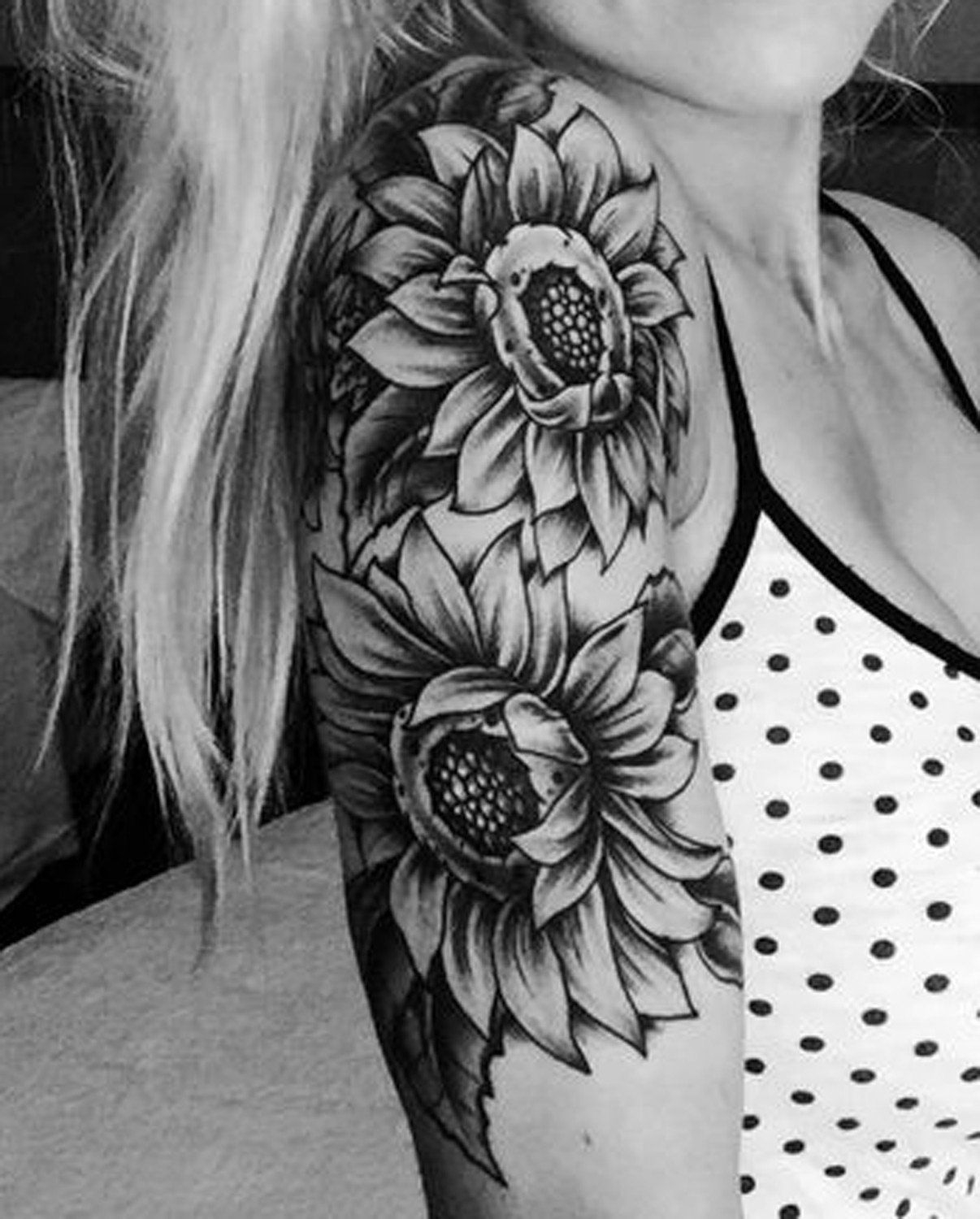 20 Of The Most Boujee Sunflower Tattoo Ideas Sunflower Tattoo inside sizing 1206 X 1500