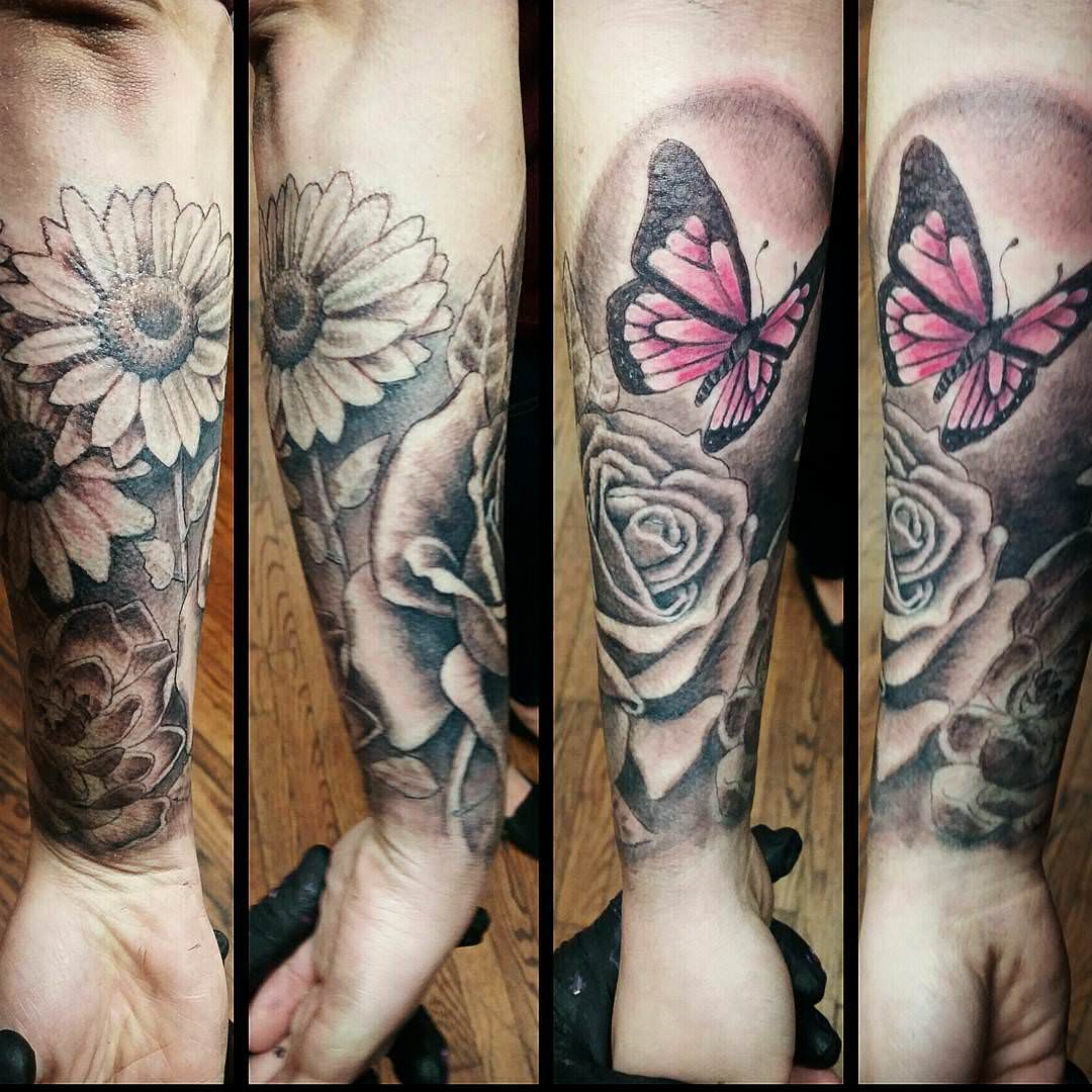 03dac27c4 23 Forearm Sleeve Tattoo Designs Ideas Design Trends Premium with regard to size  1080 X 1080