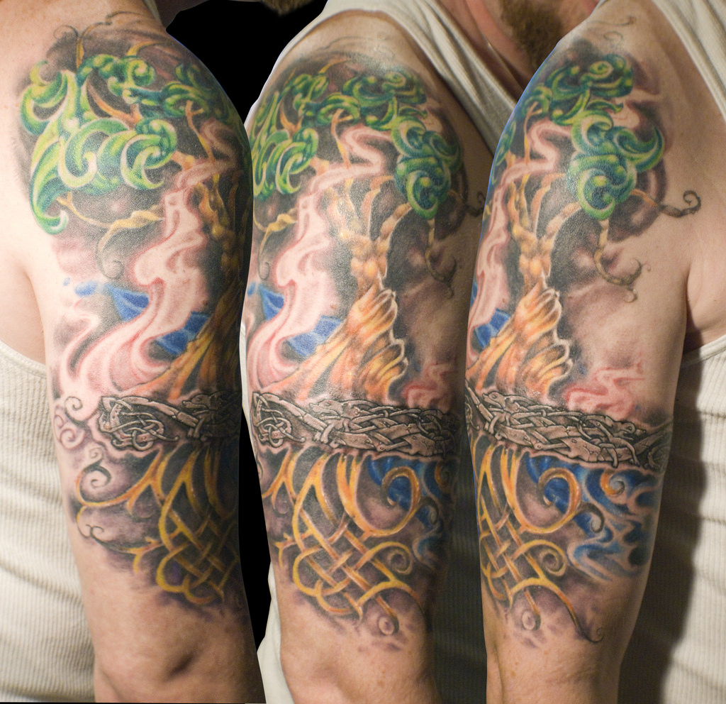 25 Tree Of Life Tattoos On Sleeve intended for sizing 1024 X 992