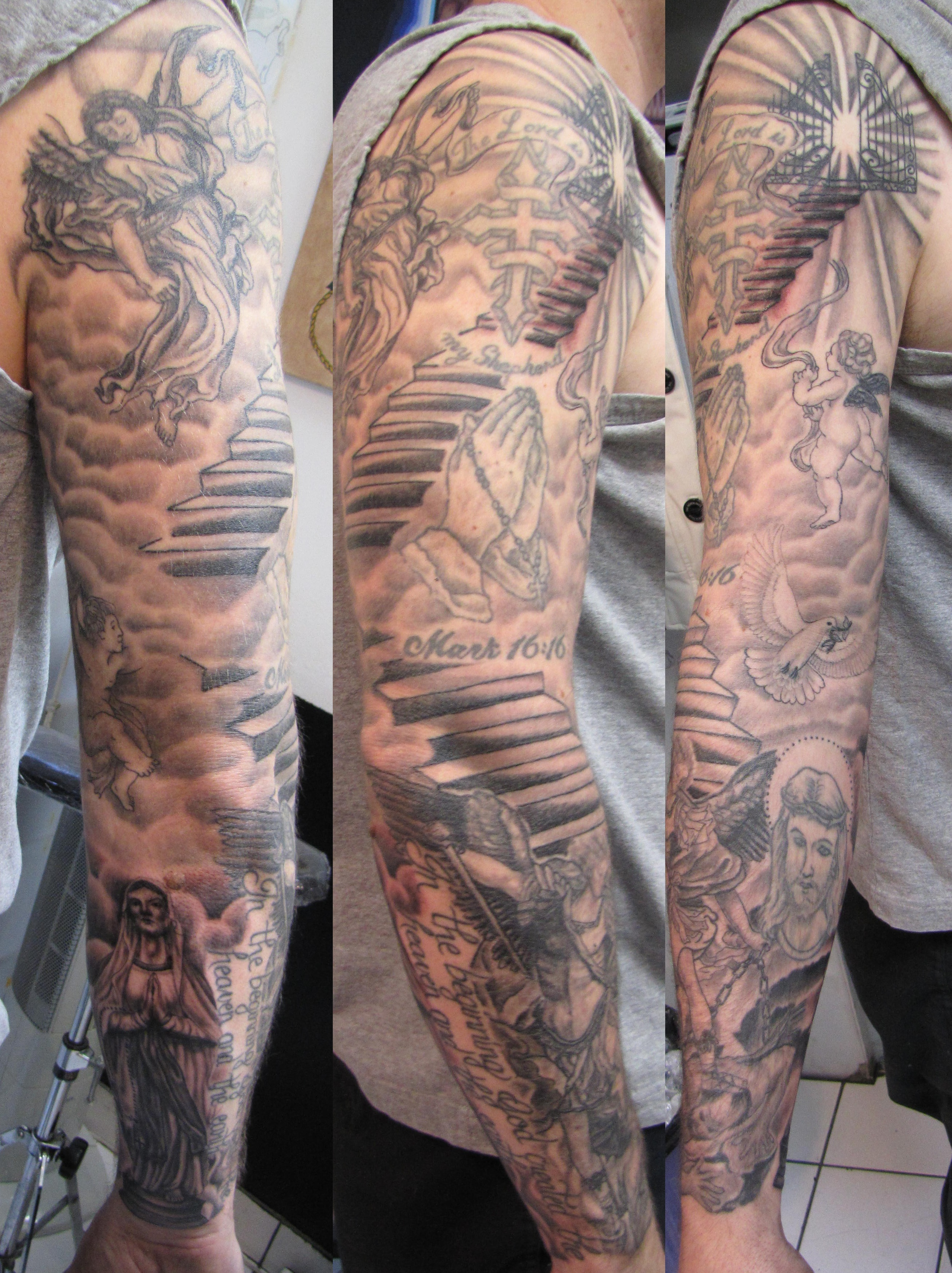f0d41493e 26 Angel Sleeve Tattoos Ideas within proportions 2609 X 3489