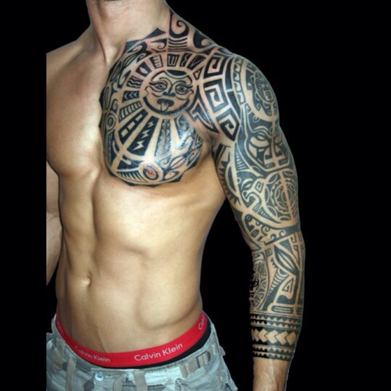 Sleeve And Chest Tattoo Half Sleeve Tattoo Site