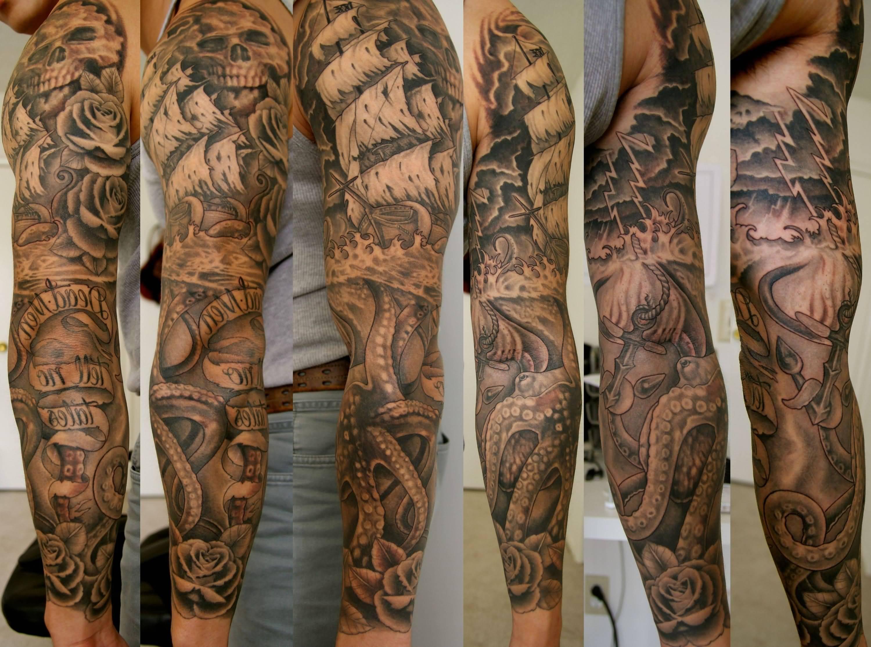 Pirate Sleeve Tattoo Designs Half Sleeve Tattoo Site