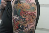 48 Dragon Tattoos On Men Half Sleeve intended for dimensions 1600 X 2133