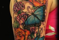 55 Butterfly Flower Tattoos intended for proportions 1127 X 1920