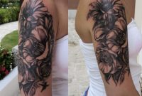 A Good Start For A Half Sleeve On A Gorgeous Norwegian Girl Flower inside size 2120 X 2475