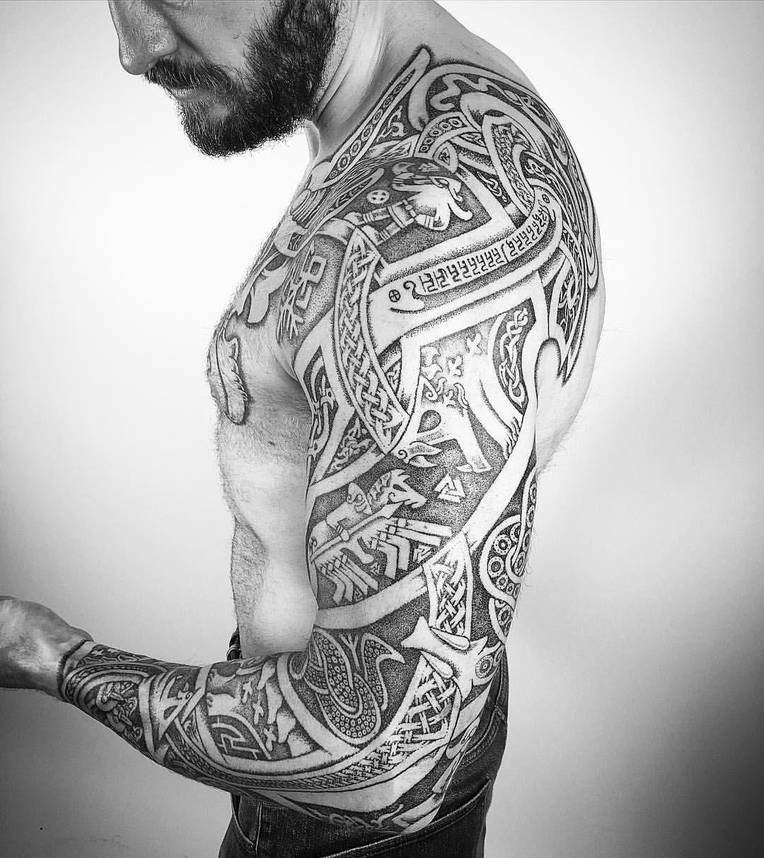 Viking Sleeve Tattoo Half Sleeve Tattoo Site