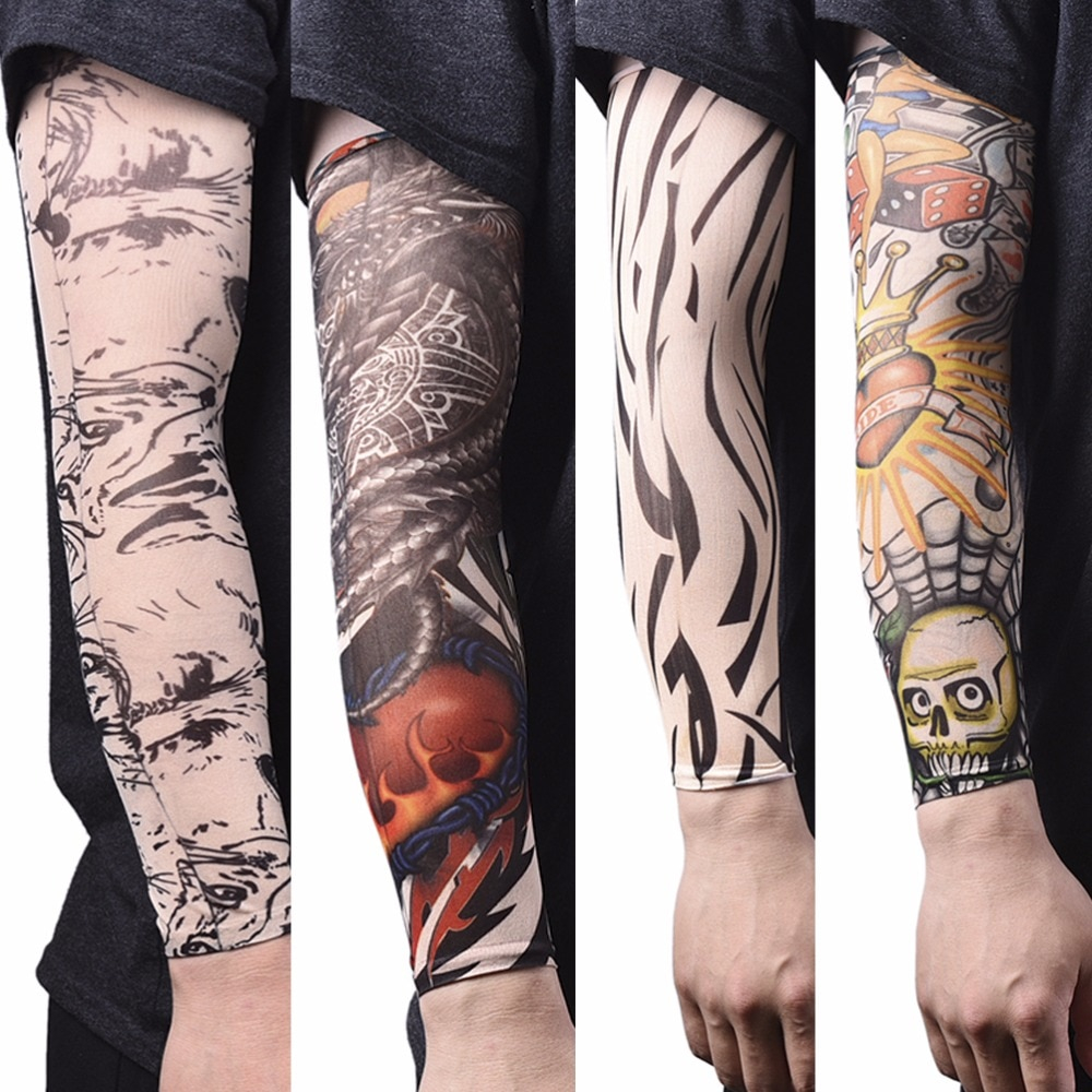 Arm Warmer Skins Proteive Nylon Stretchy Fake Temporary Tattoo regarding proportions 1000 X 1000