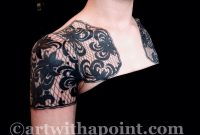Art With A Point Black Lace Wrap Custom Tattoo Studio within proportions 1600 X 1200