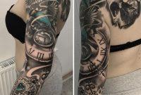 Birds Locket Timepiece Full Sleeve Best Tattoo Ideas Designs throughout sizing 900 X 917