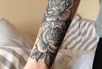 Black Rose Forearm Tattoo Ideas For Women Vintage Traditional for sizing 950 X 2048
