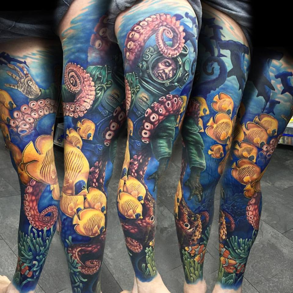 Crazy Underwater Zombie And Octopus Tattoo Interestingasfuck for dimensions 960 X 960