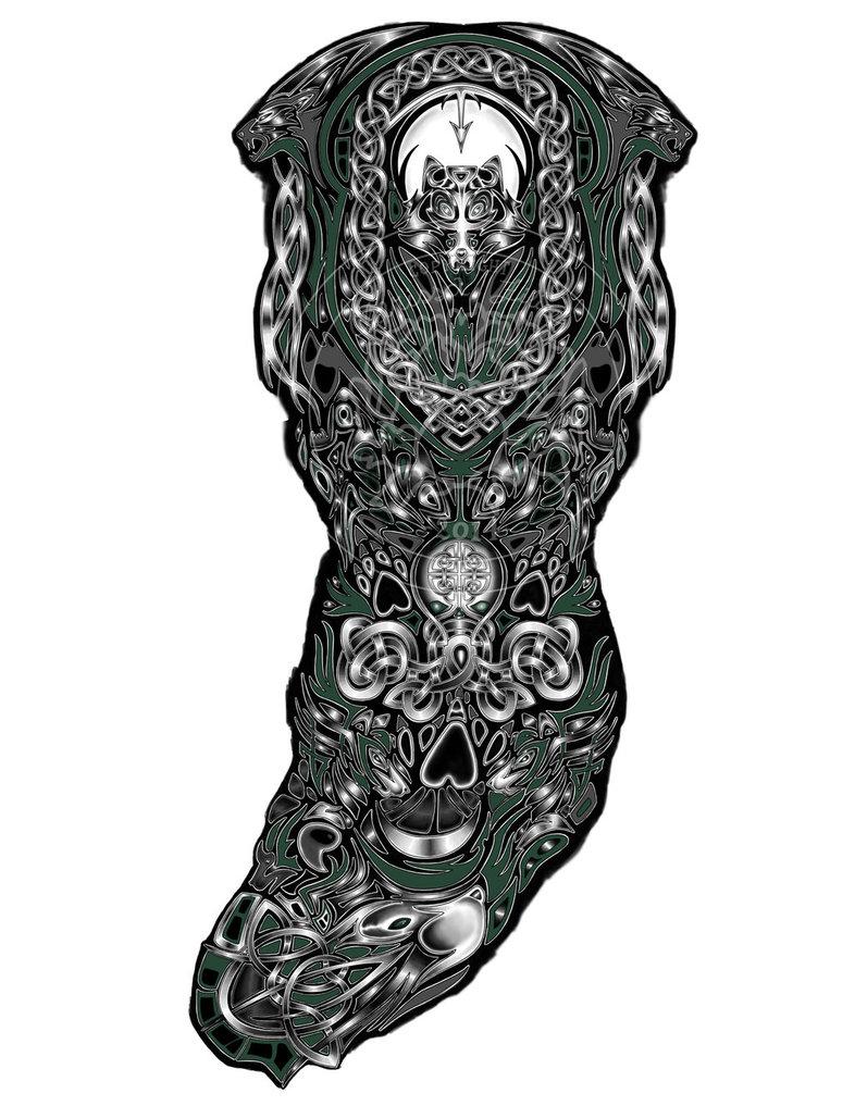 f27d60e14ec44 Custom Tattoo Design Celtic Wolves Fallingsarah On Deviantart inside sizing  786 X 1017