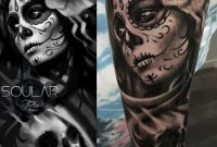 Day Of The Dead Sleeve Tattoo Mattparkintattoos Soular Tattoo intended for sizing 1564 X 1564
