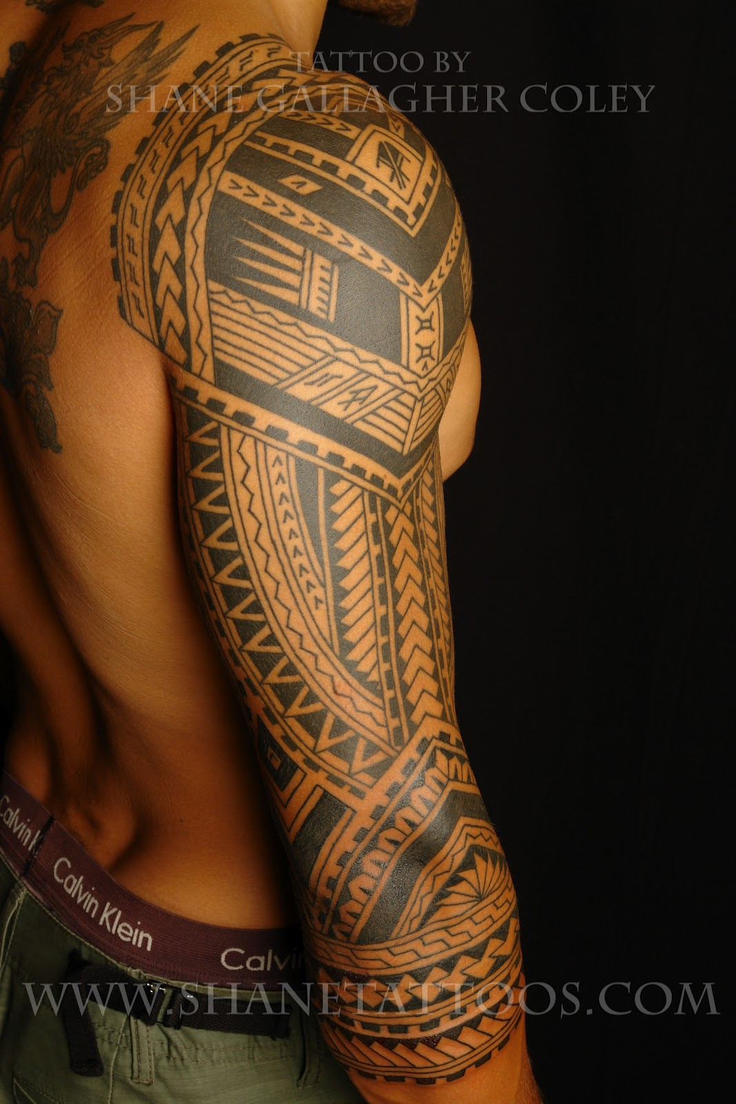 Download Tribal Tattoo 3 4 Sleeve Danesharacmc with regard to measurements 1067 X 1600