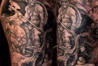 Fantasy Half Sleeve Tattoo Design 13591600 Viking Tattoos in dimensions 1359 X 1600