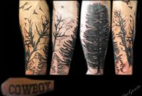 Forearm Tree And Bird Silhouette Half Sleeve Cover Up Tattoo within measurements 2832 X 2128