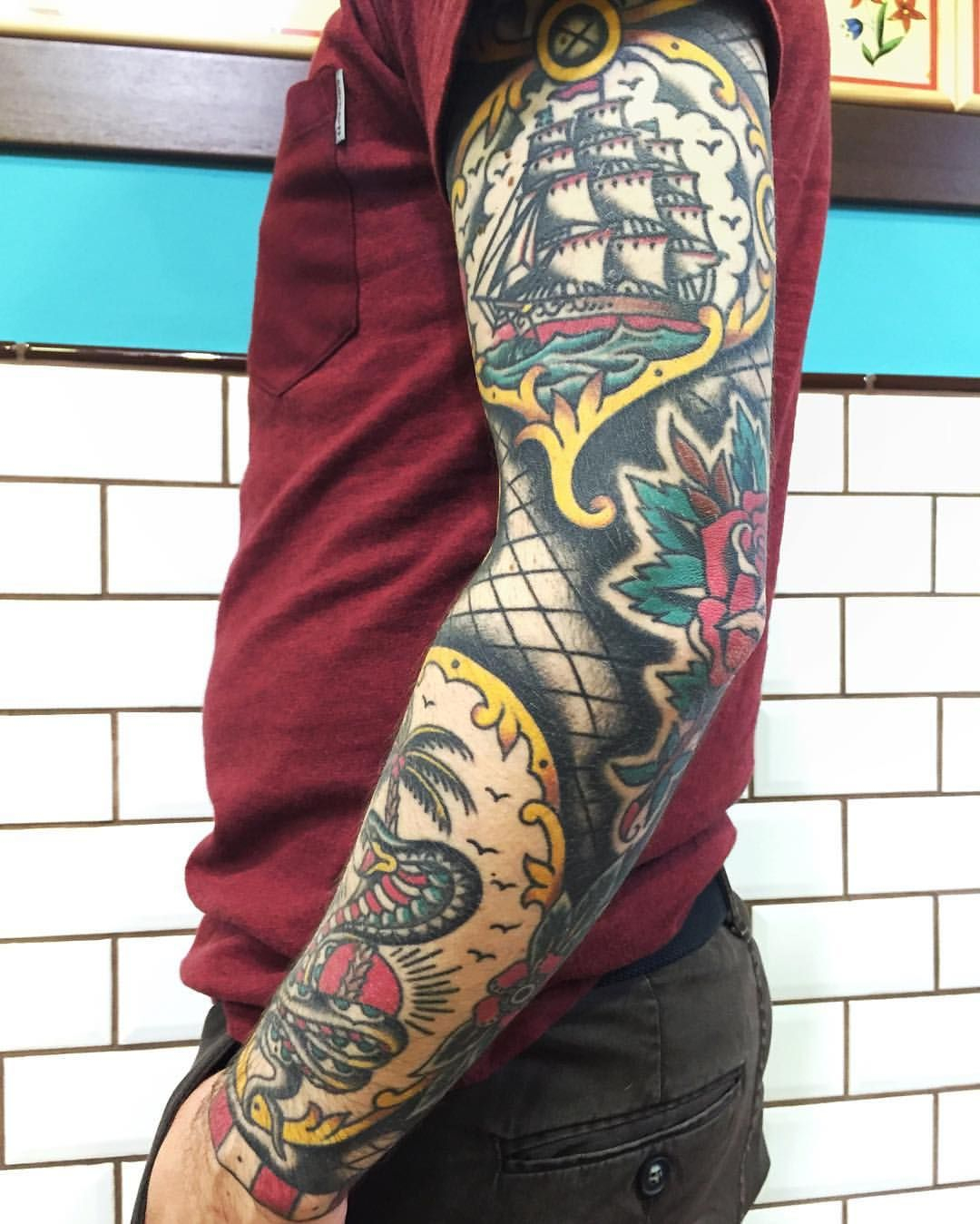 Tattoo Sleeve Shading Filler: Traditional Tattoo Sleeve Filler • Half Sleeve Tattoo Site