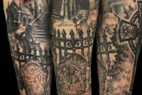 Graveyard Tombstone Sleeve Tattoo Jackie Rabbit Tattoo throughout dimensions 1024 X 1280