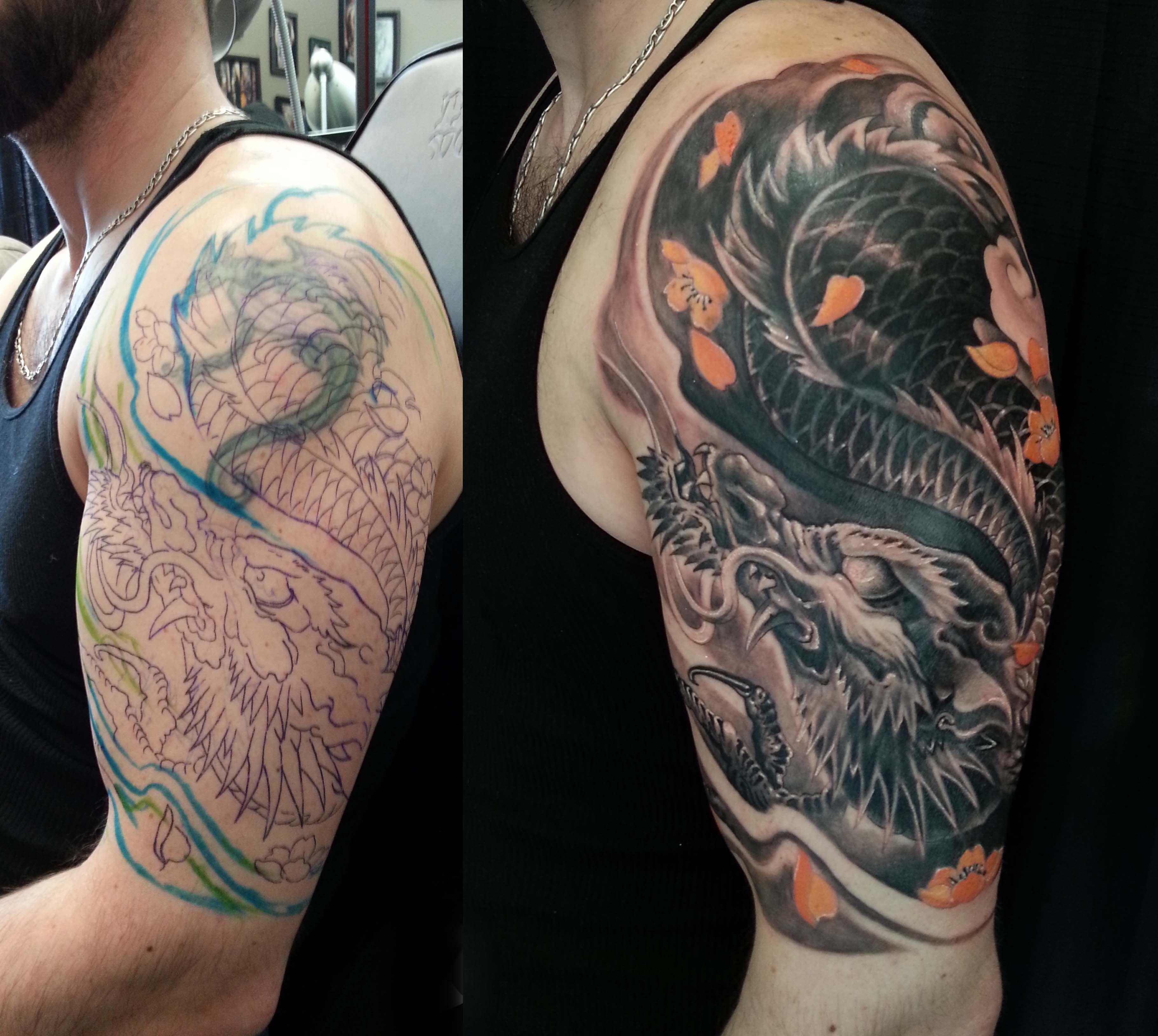 Cover Sleeve Tattoo • Half Sleeve Tattoo Site