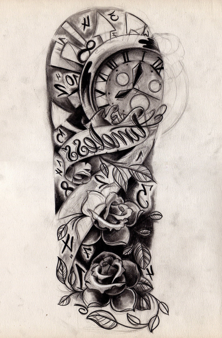 Half Sleeve Tattoo Drawing Designs At Getdrawings Free For in measurements 724 X 1102