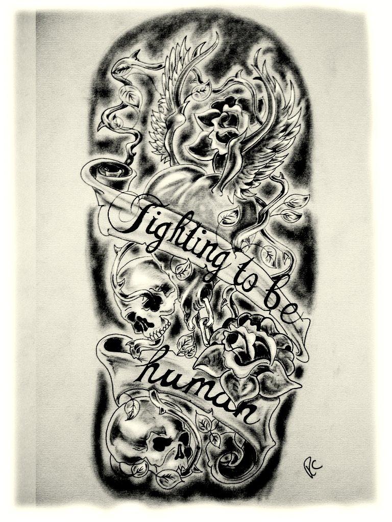 Sleeve Tattoos Templates Half Sleeve Tattoo Site