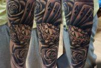 Half Sleeve Tattoo Sleeve Tattoo Poker Rose Cube Diamond regarding proportions 960 X 878