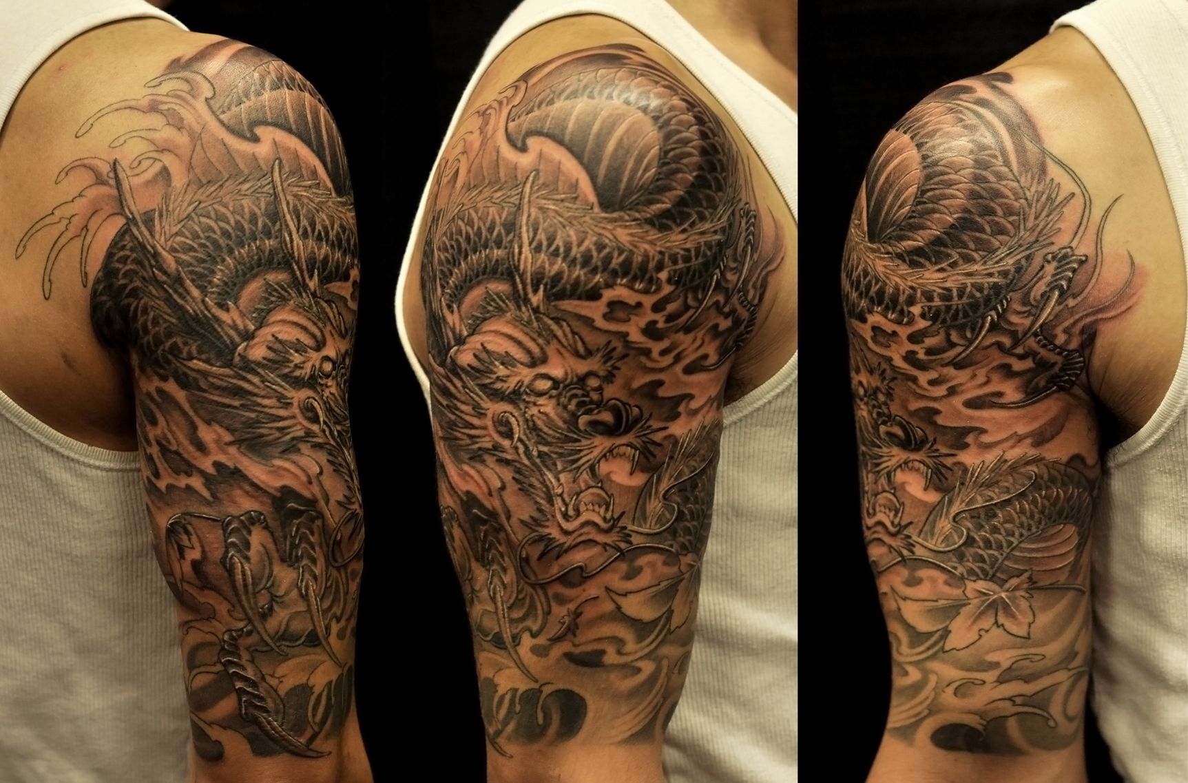 Half Sleeves Tattoo Collection From Dragon Tattoo Ideas Description in size 1725 X 1137