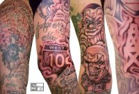 Hood Sleeve Tattoos Designs 50 Fantastic Gangsta Tattoos Future in sizing 1152 X 700