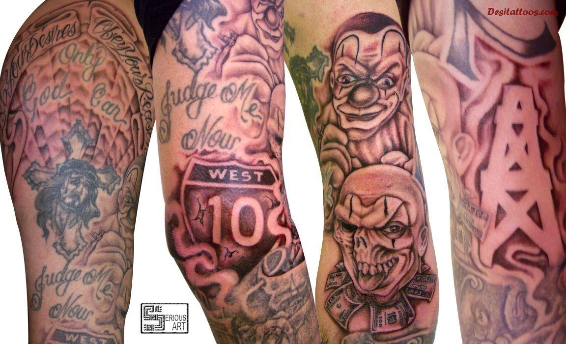 Hood Sleeve Tattoos Designs 50 Fantastic Gangsta Tattoos Future in sizing 1152 X 700