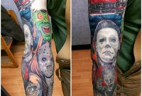 Horror Movie Sleeve Started Mark Haley At Big Ink Tattoos And in proportions 1200 X 1200