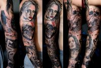 Horror Tattoo Sleeve Stefan At Holy Grail Stefan Holy Grail within measurements 2048 X 1413
