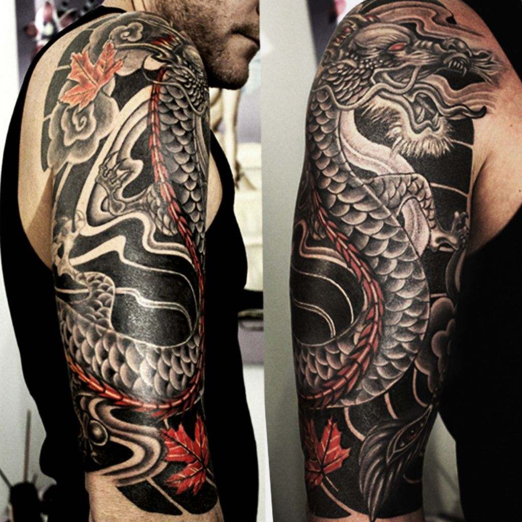 Japanese Dragon Half Sleeve Cover Up Tattoo Ass Tattoos regarding sizing 1024 X 1024