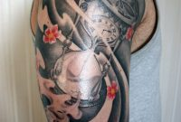 Japanese Influenced Hourglass Half Sleeve Tattoo Sebassiehihi On in sizing 730 X 1095