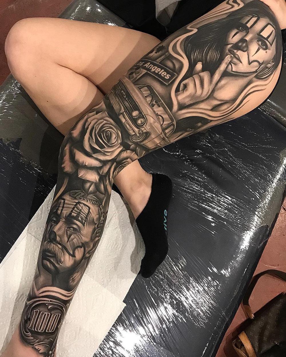 Tattoo Leg Sleeves Designs Half Sleeve Tattoo Site
