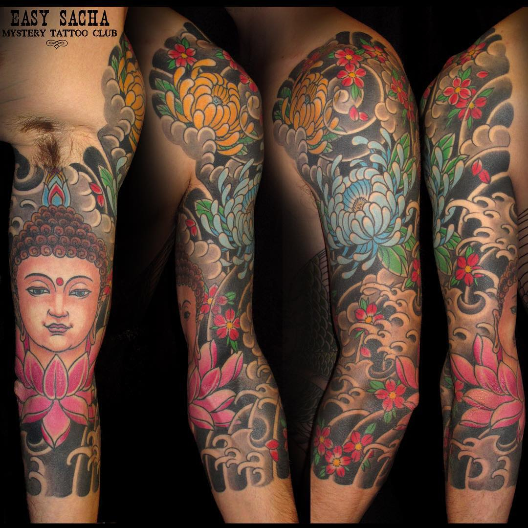 Buddha Tattoo Sleeve Ideas Half Sleeve Tattoo Site