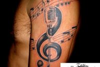 Music Notes And Jesus Cross Half Sleeve Tattoos For Men 2018 with measurements 900 X 1200