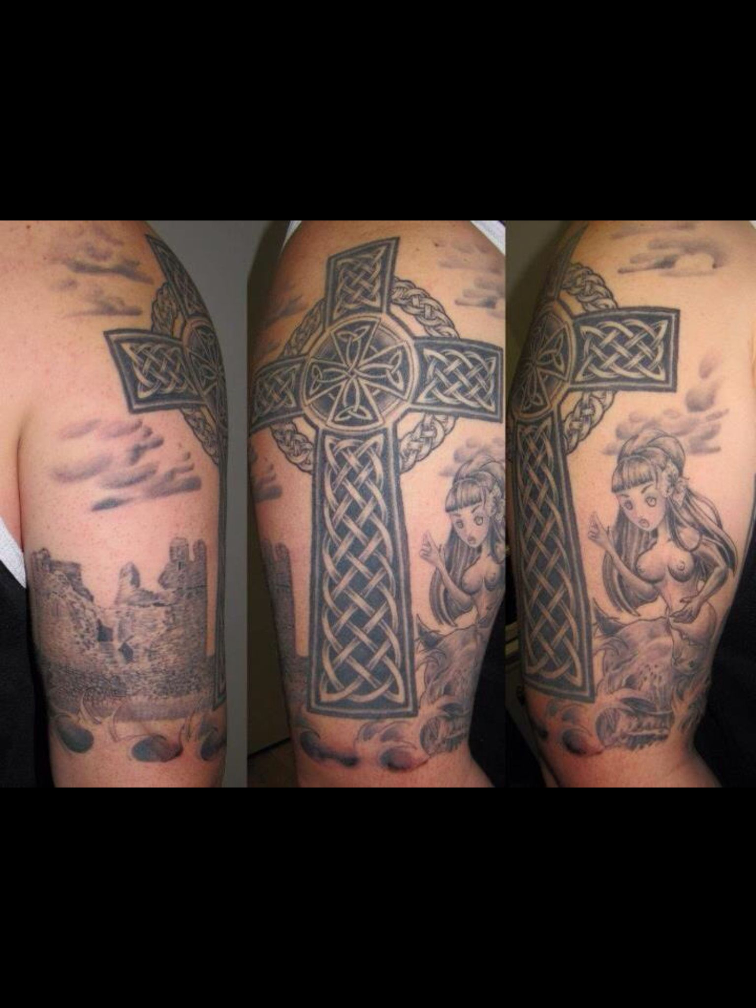 My Celtic Half Sleeve Tattoo With Celtic Cross Selkie Obriens inside measurements 1536 X 2048