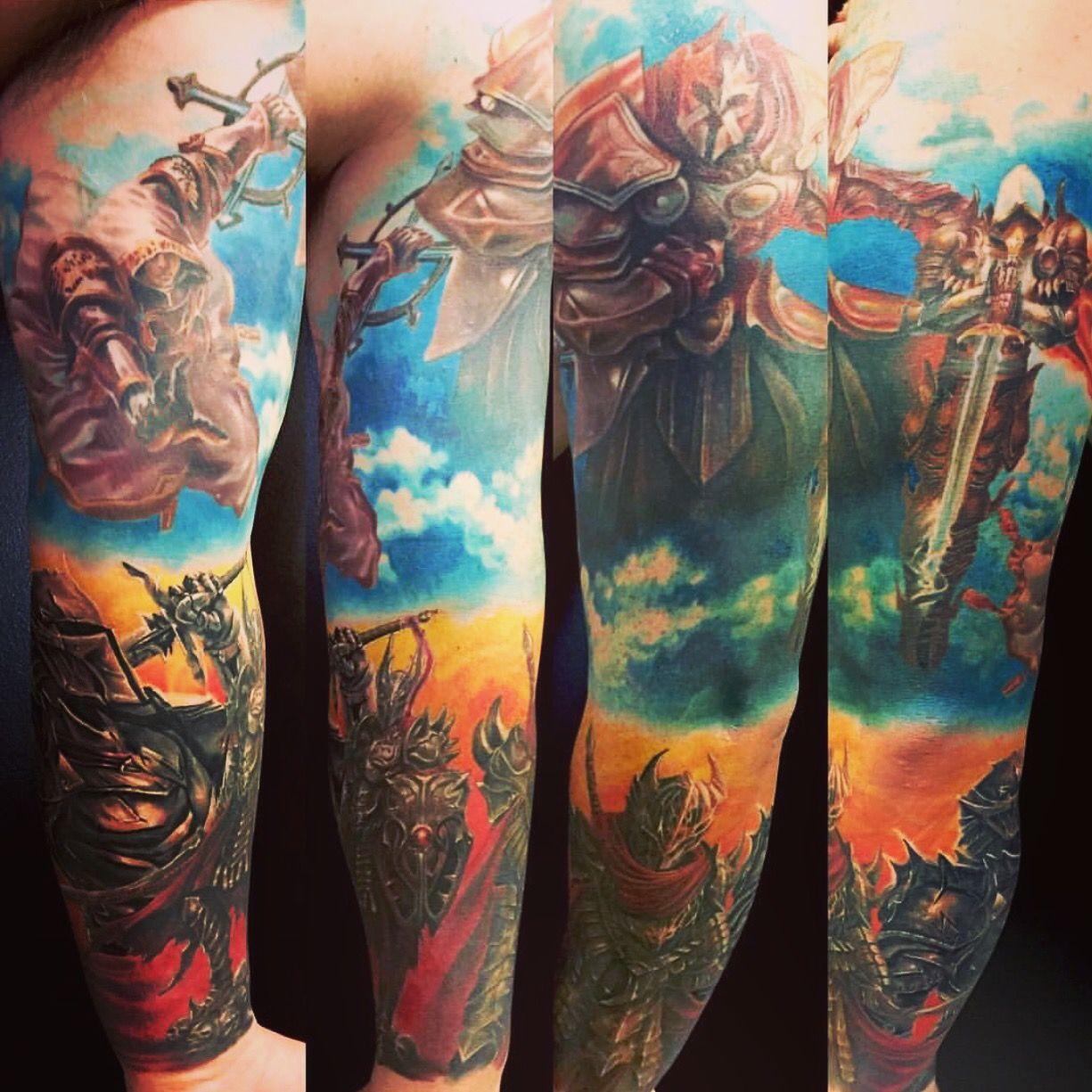 good vs evil tattoo sleeves half sleeve tattoo site