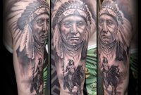 Native American Indios Half Sleeve Black And Grey Tattoos Alo in dimensions 4207 X 3884