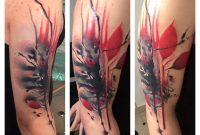 Red And Black Half Sleeve Tattoo Lukasz Kaczmarek Design Of regarding proportions 960 X 960