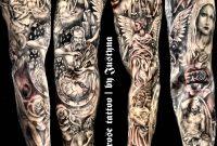 Religious Sleeve Tattoo Justyna Kurzelowska Dark Rose Tattoo throughout dimensions 1960 X 2100