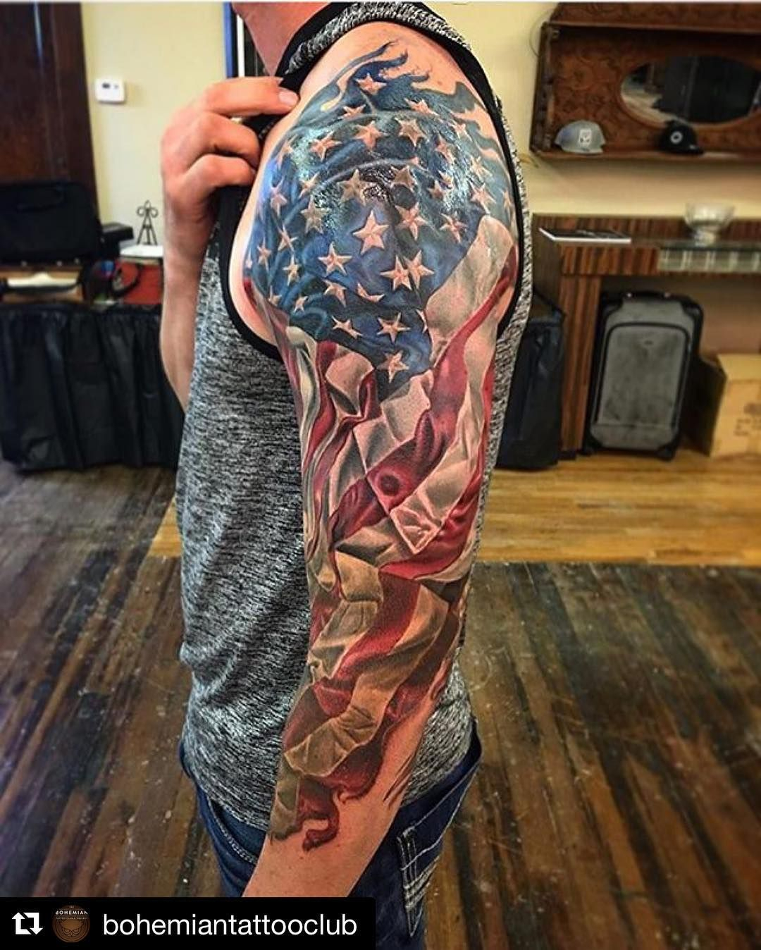 Repost Bohemiantattooclub With Repostapp American Flag 34 in proportions 1080 X 1348