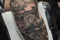 Samurai Warrior Black And Grey Realistic Tattoo Its The Start Of A with regard to dimensions 1125 X 1119