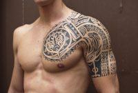 Sexy Men Half Sleeve Tattoos Black Ink Samoan Tribal Half Sleeve within sizing 1055 X 850