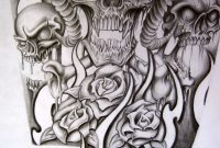 Skull Half Sleeve Tattoo Designs Half Sleeve For A Tattoo within dimensions 774 X 1032