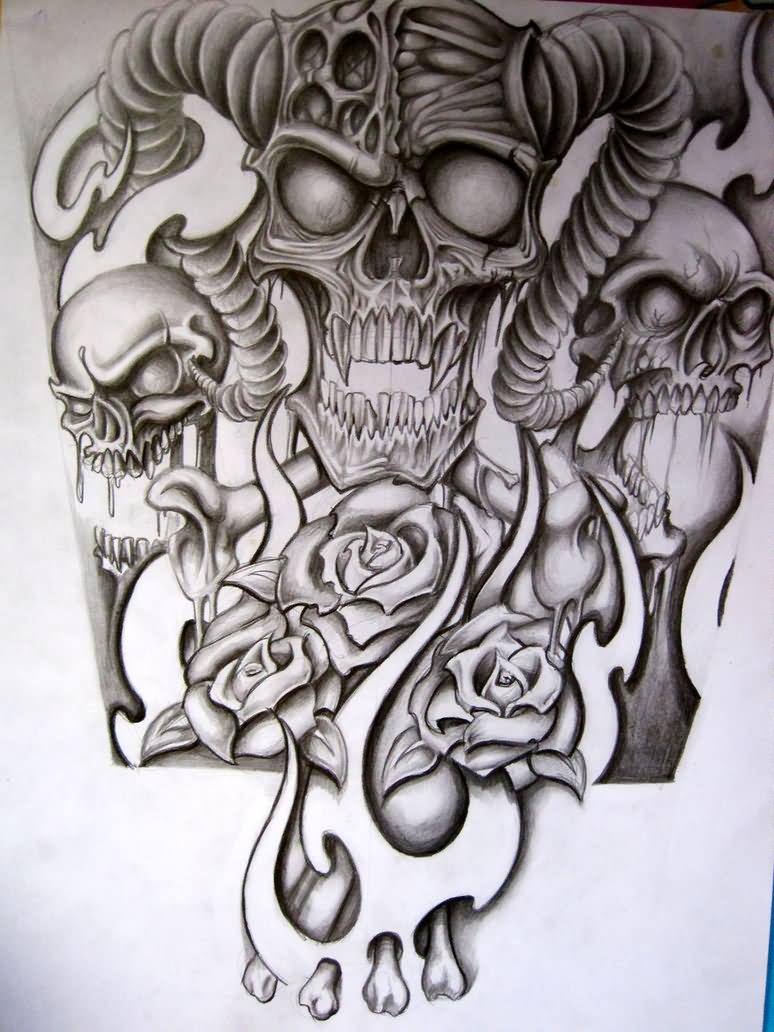 Tattoo Skull Sleeve Ideas • Half Sleeve Tattoo Site