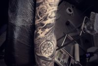 Sleeve Tattoo Stars Roses Dove Creative Tattoo Sleeves in dimensions 1080 X 1080