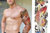 Temporary Tattoo Sleeve Realistic Koi Carps Dragon Mens Womens with regard to measurements 1080 X 1080